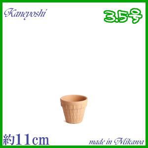 素焼鉢 BSK 3.5号  植木鉢 陶器 おしゃれ サイズ 11cm 安くて植物に良い鉢|docchan