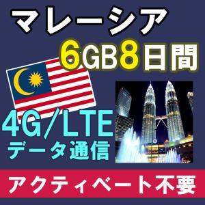 マレーシア プリペイド SIMカード 4G/3G データ通信 4GB/8日間 AIS Sim2Fly...