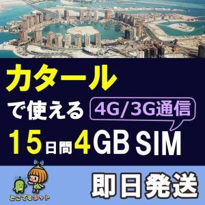 カタール プリペイドSIM 4G/LTE データ通信 4GB/15日間 AIS Sim2Fly 送料...