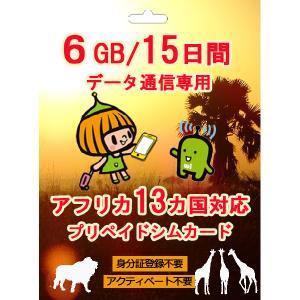 南アフリカ エジプト 対応 プリペイド SIMカード 4G/3G データ通信 4GB/15日間 AI...