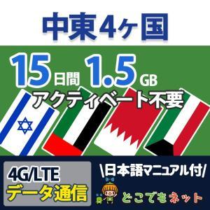 アラブ首長国連邦 UAE プリペイド SIMカード 4G/3G データ通信 1GB/5日間  簡易日...