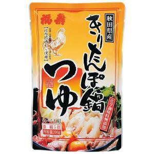 【 福寿 】秋田県産 きりたんぽ鍋つゆ 4〜5人前濃縮5倍 200g|dodgers
