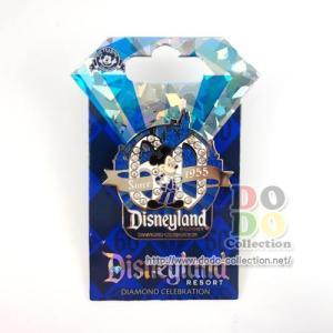 ディズニーランド60周年限定 ミッキー DLロゴ ピンバッジ ダイヤモンド・セレブレーション アメリカディズニーパーク 限定 グッズ お土産|dodo-collection