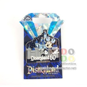 ディズニーランド60周年限定 ミニー スリーピングビューティー城 ピンバッジ ダイヤモンド・セレブレーション アメリカ 限定 グッズ お土産|dodo-collection