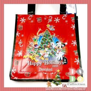 クリスマス ハッピーホリデー 2015 ショッピングバッグ アメリカディズニーパーク 限定 グッズ お土産 dodo-collection