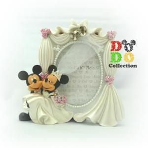 ミッキー&ミニー 結婚式 ウェディング フォトスタンド 写真立て アメリカディズニーパーク限定 グッズ お土産 ギフト|dodo-collection