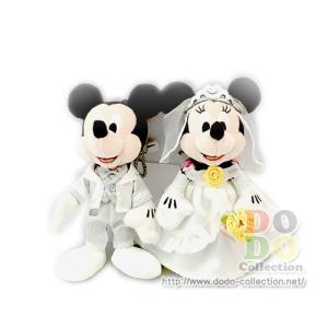 【即納】東京ディズニーリゾート限定アイテム ◆ミッキーとミニーの結婚式のぬいぐるみバッジです☆ ◆結...