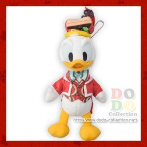ドナルド ぬいぐるみバッジ テーブル・イズ・ウェイティング  クリスマスキュイジーヌ 2016年 東京ディズニーシー 限定 グッズ お土産 dodo-collection