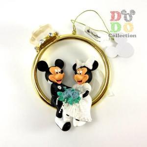 ミッキー&ミニー 結婚式 ウェディング ダイヤモンドリング オーナメント アメリカディズニーパーク 限定 グッズ お土産|dodo-collection