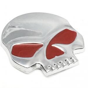 骸骨 ドクロ スカル 3D 金属 ステッカー エンブレム シール