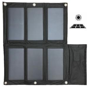 ソーラーチャージャー 40W ソーラーパネル充電器 太陽光発電 2USBポート 折り畳み式