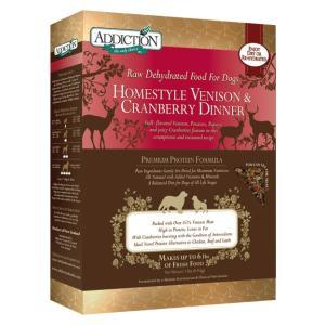 アディクション ホームスタイルベニソン&クランベリーディナー低温乾燥グレインフリードッグフード(鹿肉/クランベリー) 900g x 10袋|dog-sagara