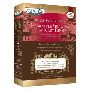 アディクション ホームスタイルベニソン&クランベリーディナー低温乾燥グレインフリードッグフード(鹿肉/クランベリー) 113g x 12袋|dog-sagara