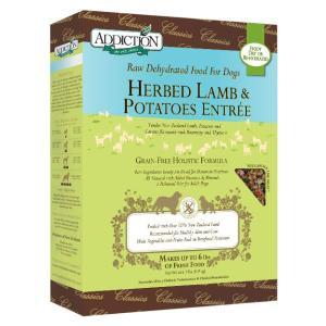 アディクション ハーブラム&ポテト低温乾燥グレインフリードッグフード(ラム肉/タイム・ローズマリー)  113g x 12袋|dog-sagara