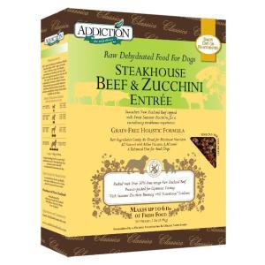 アディクション ステーキハウスビーフ&ズッキーニエントリー低温乾燥グレインフリードッグフード(ビーフ/ズッキーニ) 113g x 12袋|dog-sagara