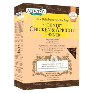 アディクション カントリーチキン&アプリコットディナー低温乾燥グレインフリードッグフード(チキン/アプリコット) 900g x 10袋|dog-sagara