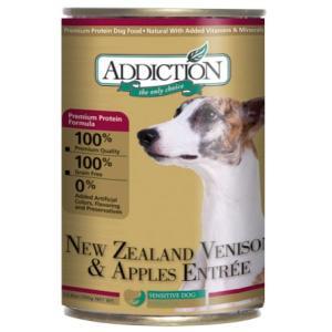 アディクション ニュージーランドベニソン&アップル ドッグ缶 390g x 12缶セット|dog-sagara