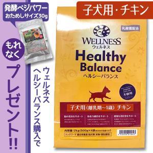 ドッグフード チキン ウェルネスヘルシーバランス 子犬用(離乳期〜1歳) 6kg(1kg×6個)野菜ふりかけプレゼント|dog-sagara