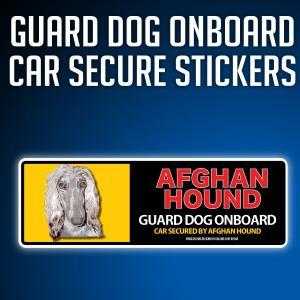 アフガンハウンド:リアルフェースイラストステッカー dogandsurfdesign