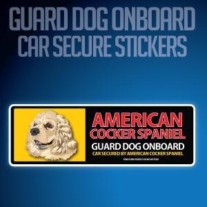 アメリカンコッカースパニエル:リアルフェースイラストステッカー dogandsurfdesign