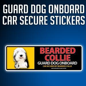 ベアデッドコリー:リアルフェースイラストステッカー dogandsurfdesign