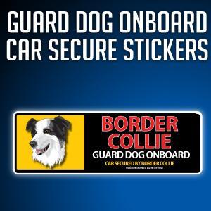 ボーダーコリーType-C:リアルフェースイラストステッカー dogandsurfdesign