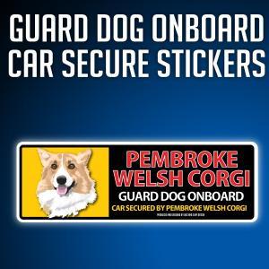 ウェルシュコーギーペンブローク:リアルフェースイラストステッカー dogandsurfdesign