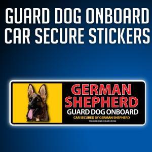 ジャーマンシェパード:リアルフェースイラストステッカー dogandsurfdesign