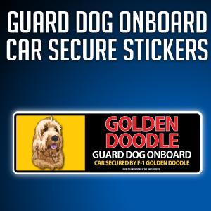 ゴールデンドゥードルType-D:リアルフェースイラストステッカー dogandsurfdesign