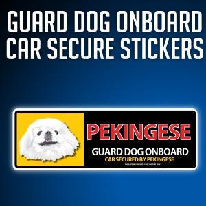 ペキニーズ:リアルフェースイラストステッカー dogandsurfdesign