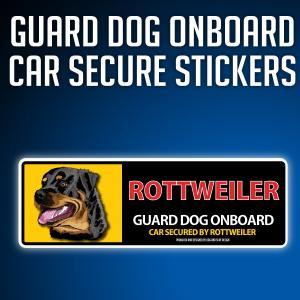 ロットワイラー:リアルフェースイラストステッカー dogandsurfdesign