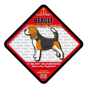犬ステッカー:ビーグルONBOARDステッカー|dogandsurfdesign