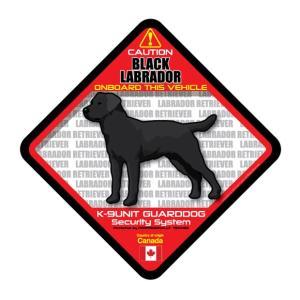 犬ステッカー:黒ラブONBOARDステッカー|dogandsurfdesign
