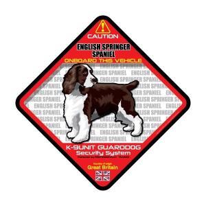 犬ステッカー:イングリッシュスプリンガースパニエルONBOARDステッカー|dogandsurfdesign