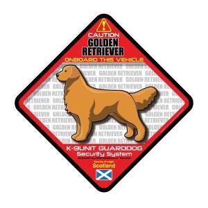 犬ステッカー:ゴールデンレトリバーONBOARDステッカー|dogandsurfdesign