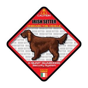 犬ステッカー:アイリッシュセッターONBOARDステッカー|dogandsurfdesign