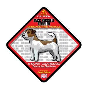 犬ステッカー:ジャックラッセルテリアONBOARDステッカー|dogandsurfdesign