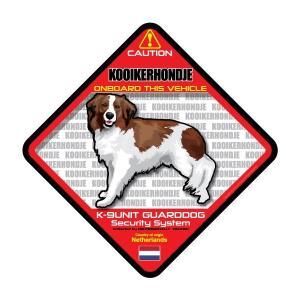 犬ステッカー:コイケルホンディエONBOARDステッカー|dogandsurfdesign
