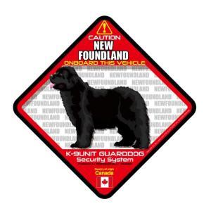 犬ステッカー:ニューファンドランドONBOARDステッカー|dogandsurfdesign