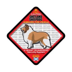 犬ステッカー:シェルティONBOARDステッカー|dogandsurfdesign
