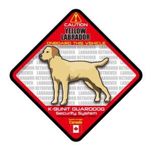 犬ステッカー:イエローラブONBOARDステッカー|dogandsurfdesign
