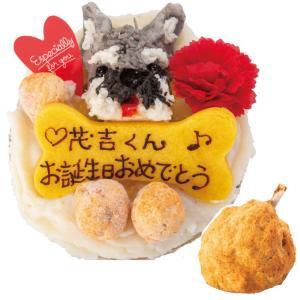犬のケーキ(無添加 似顔絵のミートローフケーキとギャートルズ...