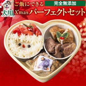 【早割】犬用 クリスマスケーキ(クリスマスケーキ/犬ケーキ・おやつ・手作りご飯 4点セット)