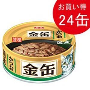 金缶ミニ かつお 70g×24(クーポン配布中)|dogparadise
