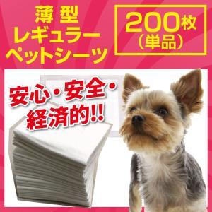 ペットシーツ レギュラー 200枚 ペットシート 超薄型 トイレシーツ 犬 猫 多頭飼い ペット トイレ シート 犬用 猫用 /あすつく/|dogparadise