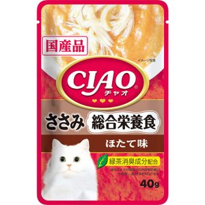 いなば CIAOパウチ 総合栄養食 ささみ ほたて味40g|dogparadise