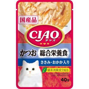いなば CIAOパウチ 総合栄養食 かつお ささみ・おかか入り 40g|dogparadise