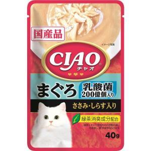 いなば CIAOパウチ 乳酸菌入り まぐろ ささみ・しらす入り 40g|dogparadise