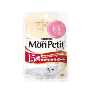 モンプチ パウチ 15歳以上用 かがやきサポート クリーミースープ まぐろ・ささみ入り40g|dogparadise
