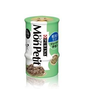 モンプチ缶 3P 粗挽き仕立て ジューシーチキン 85g×3P|dogparadise